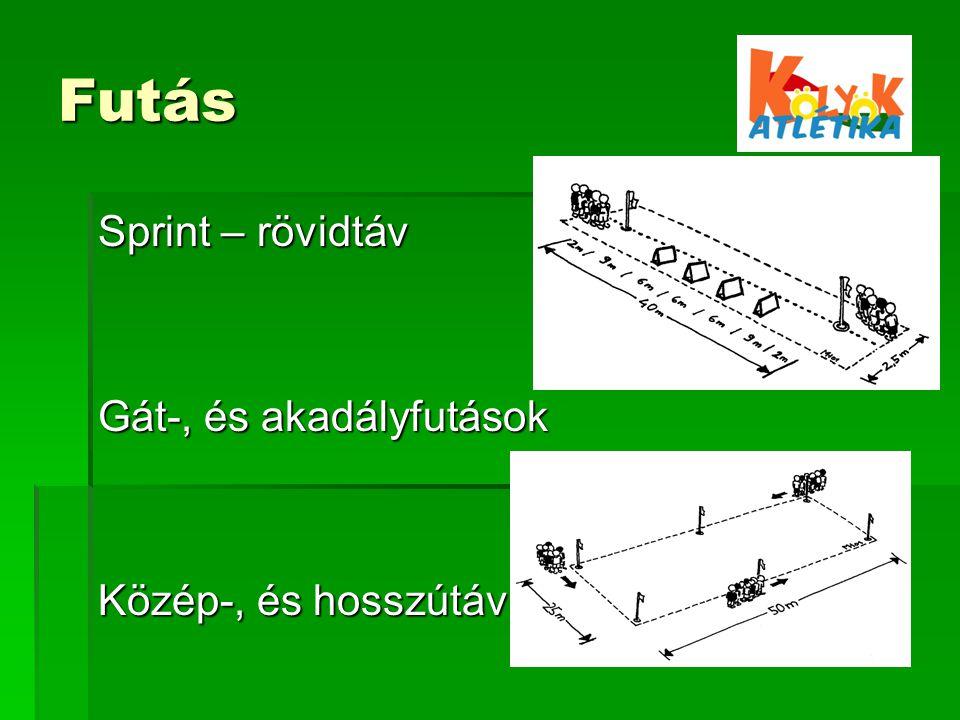 Futás Sprint – rövidtáv Gát-, és akadályfutások Közép-, és hosszútáv