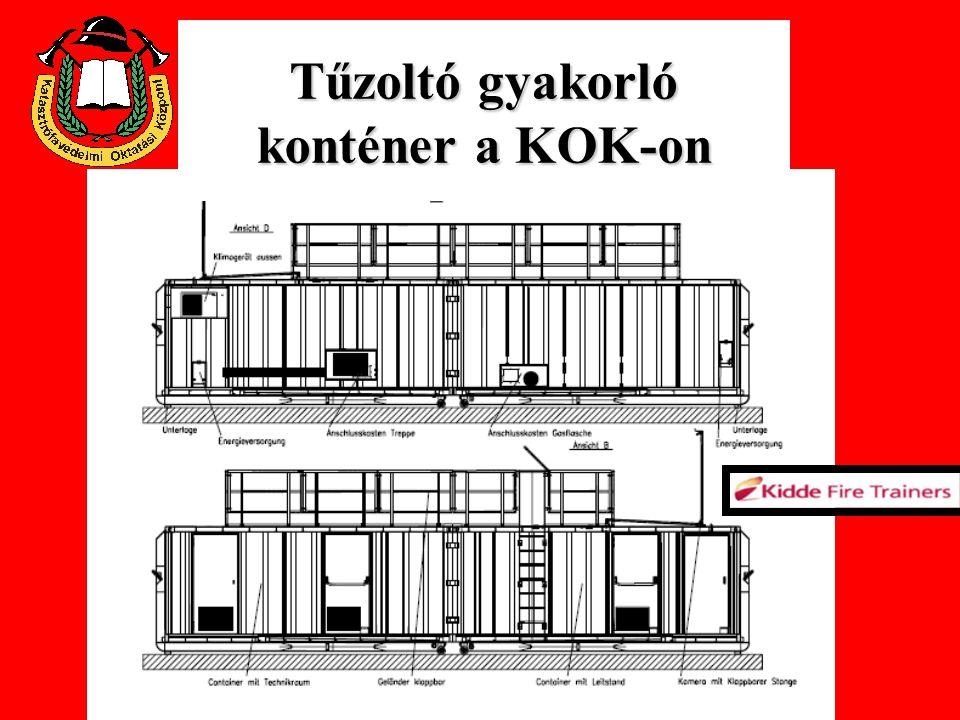 Tűzoltó gyakorló konténer Felépítés FER szakmai nap 2007.05.25