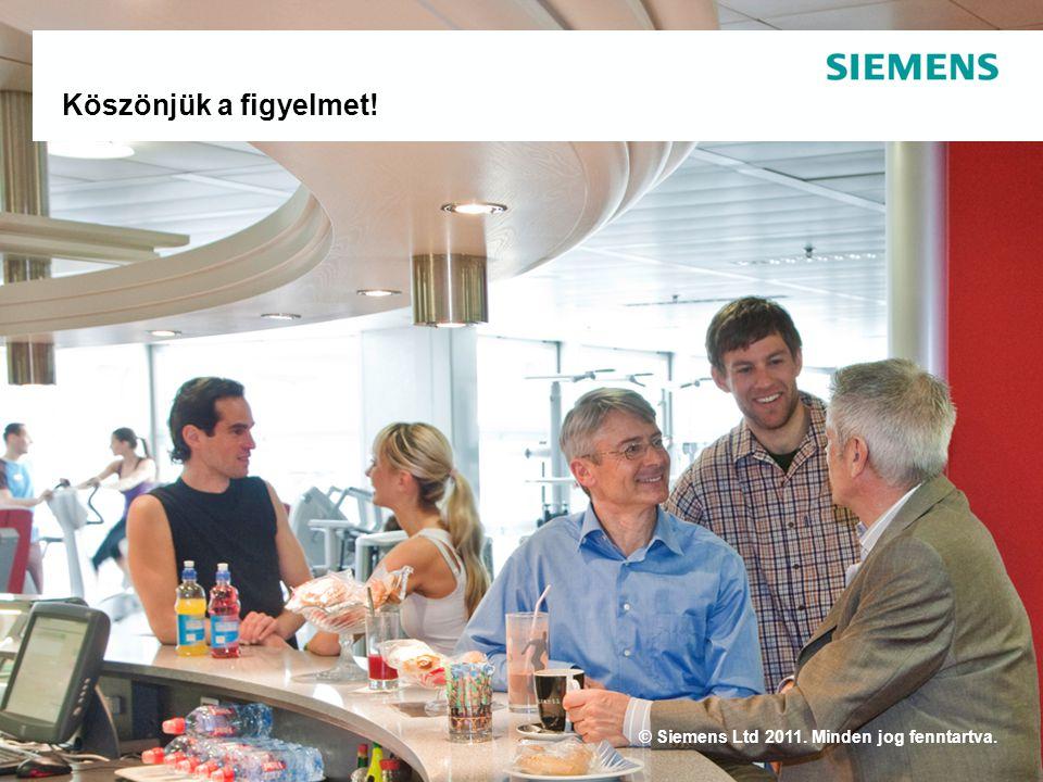 © Siemens Ltd 2011. Minden jog fenntartva. Köszönjük a figyelmet!