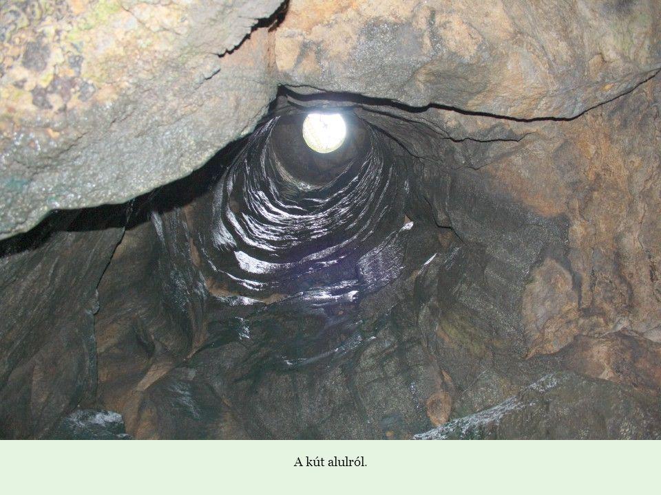Az örökzöld Franciapark. Innen jutunk le a várkastély alatt található természetes cseppkőbarlangba, amely 26 méterrel van a várudvar szintje alatt. It