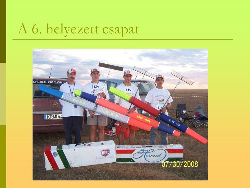 F1A vitorlázó kategória eredményei CSAPAT 1. Szlovénia 2. USA 3. Oroszország 4. Szlovákia 5. Ukrajna 6. Magyarország 7. Lengyelország 8. Csehország 9.