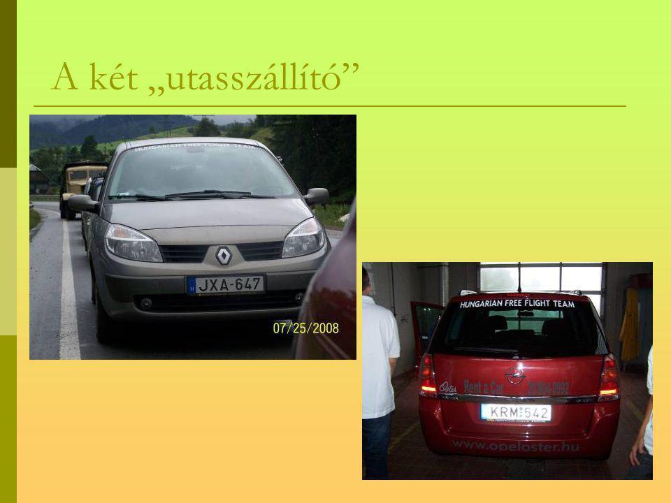 Indulási előtti pillanatok Az Opel Zafira átvétele Papp Tibortól, az Oster Autóház Kft. ügyvezetőjétől