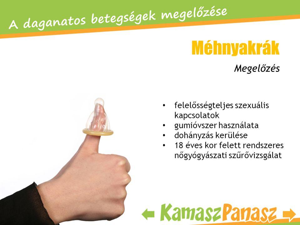 • felelősségteljes szexuális kapcsolatok • gumióvszer használata • dohányzás kerülése • 18 éves kor felett rendszeres nőgyógyászati szűrővizsgálat Meg