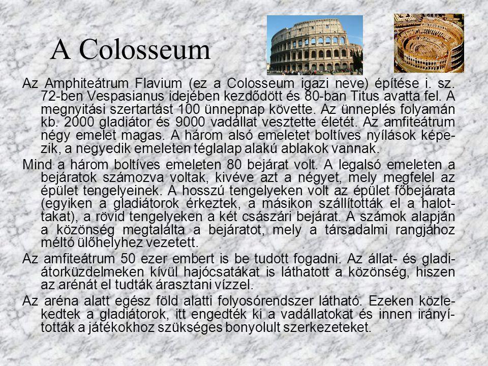 A Colosseum felülről Ellipszis alaprajz