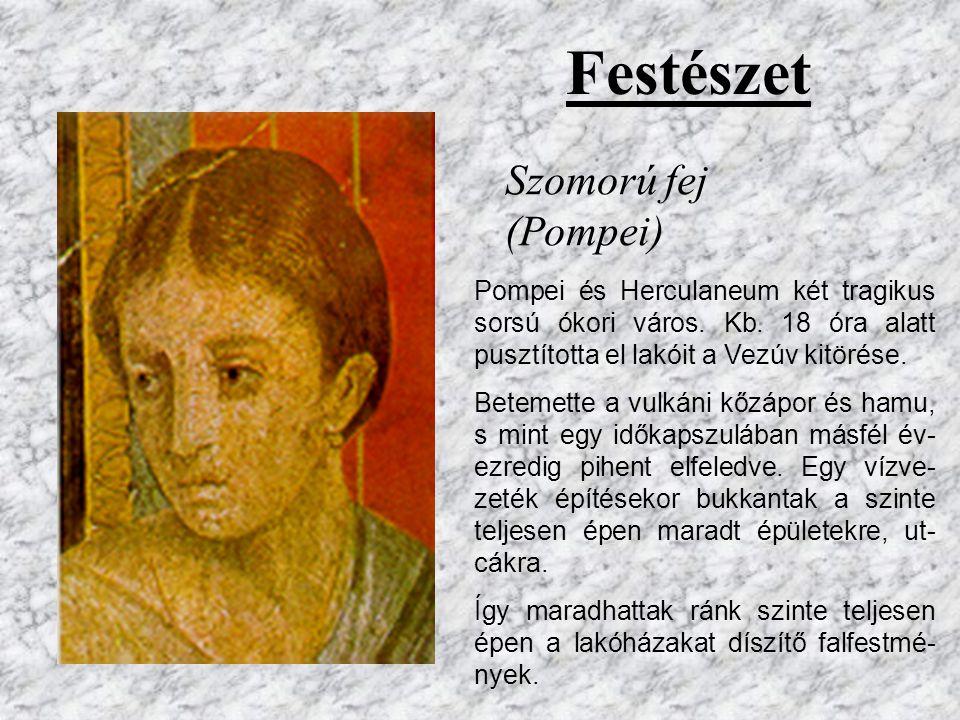 Császárok portréi Brutus (triumvirátus tagja) Külső tulajdonságai valósághűek (Nem idealizáltak, mint a görög művészetben). Jellemére, hangulatára arc