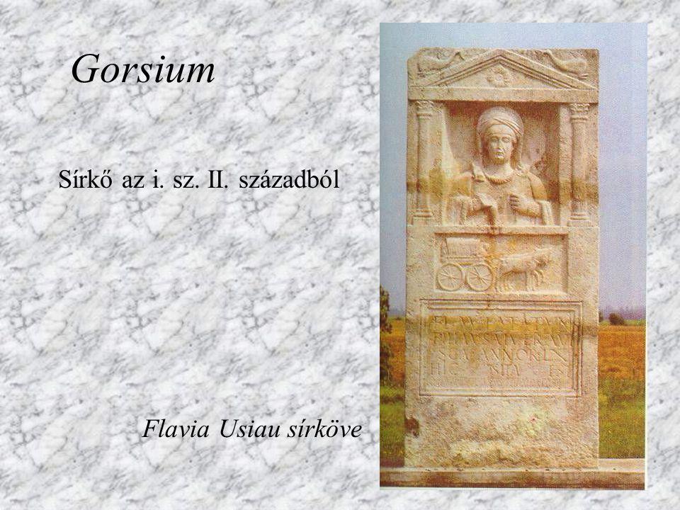 Ókori városrész romjai Gorsium (ma: Tác)