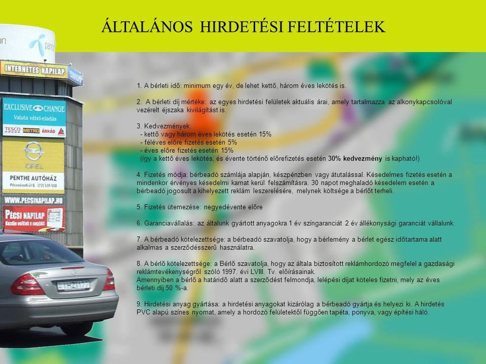 ÁLTALÁNOS HIRDETÉSI FELTÉTELEK 1.