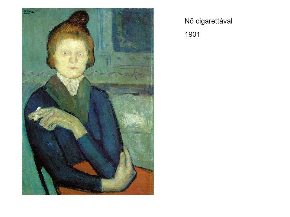 Nő cigarettával 1901