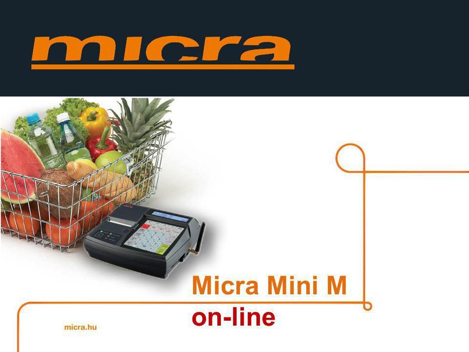 Micra Mini M 205 mm 195mm 77mm A Micra Mini egy kicsi és nagyon könnyen kezelhető pénztárgép, mely főként szolgáltatók és kis kereskedelmi egységek számára ajánlott.