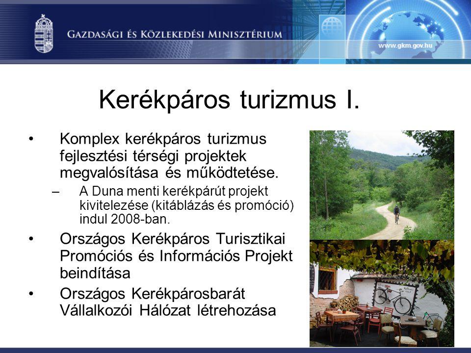 Intézményi háttér •2 fő megbízási szerződéssel, 4 fő teljes munkaidőben a kerékpározással foglalkozik a GKM-ben és a KKK-nál, •Felelősök a társminisztériumoknál RFT-oknál és a NFÜ- nél.