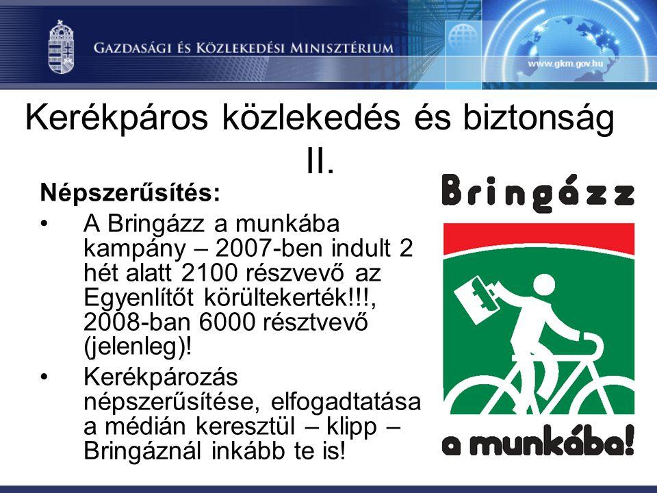 Kerékpáros közlekedés és biztonság III.