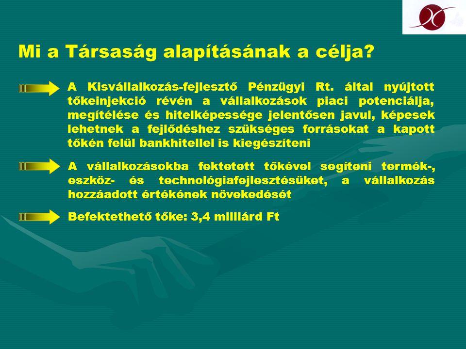 A tőkebefektetés technikája A befektetett tőke ellenében a KvfP Rt.