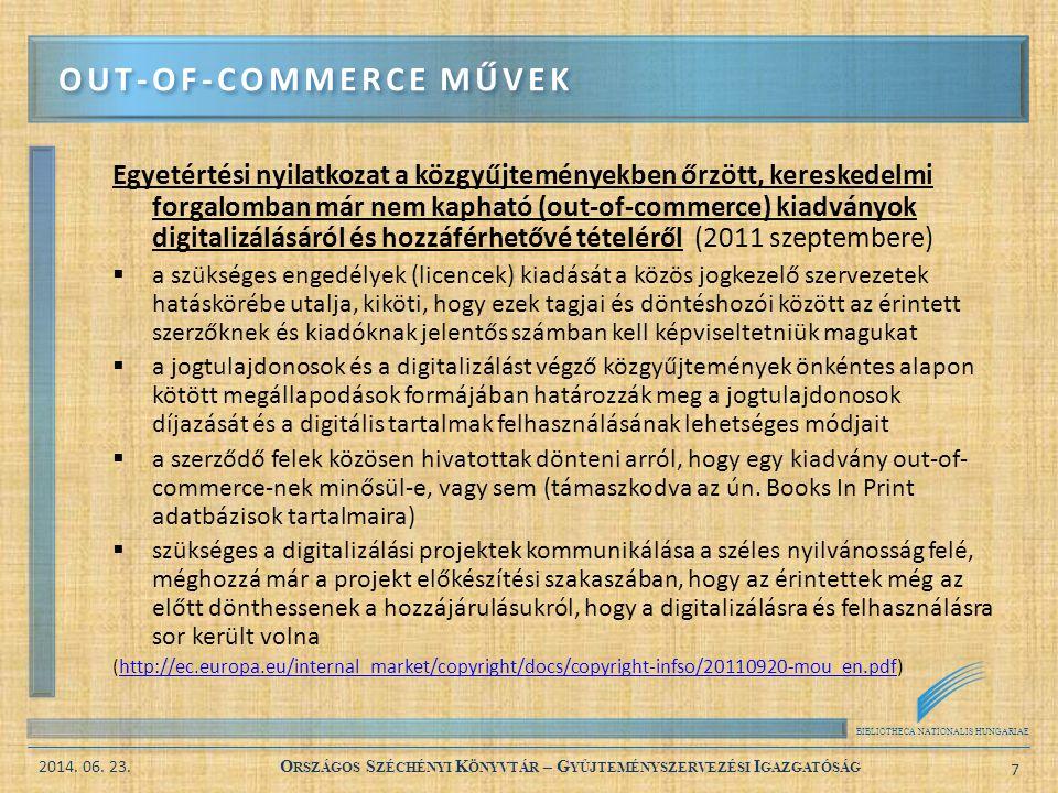 BIBLIOTHECA NATIONALIS HUNGARIAE 2014. 06. 23. O RSZÁGOS S ZÉCHÉNYI K ÖNYVTÁR – G YŰJTEMÉNYSZERVEZÉSI I GAZGATÓSÁG 7 Egyetértési nyilatkozat a közgyűj