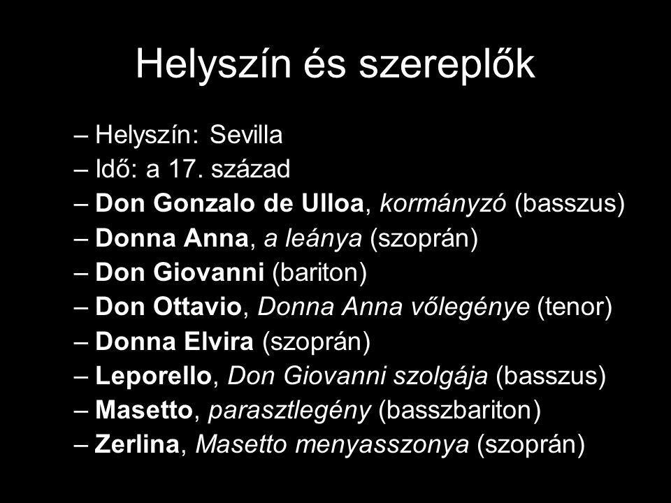 Helyszín és szereplők –Helyszín: Sevilla –Idő: a 17.