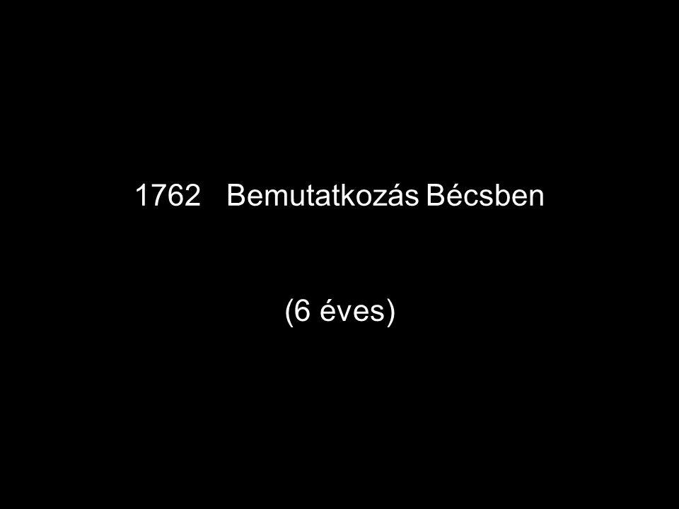 """1772 •Salzburgban Colloredo hercegérsek kinevezi """" koncertmesterré ."""