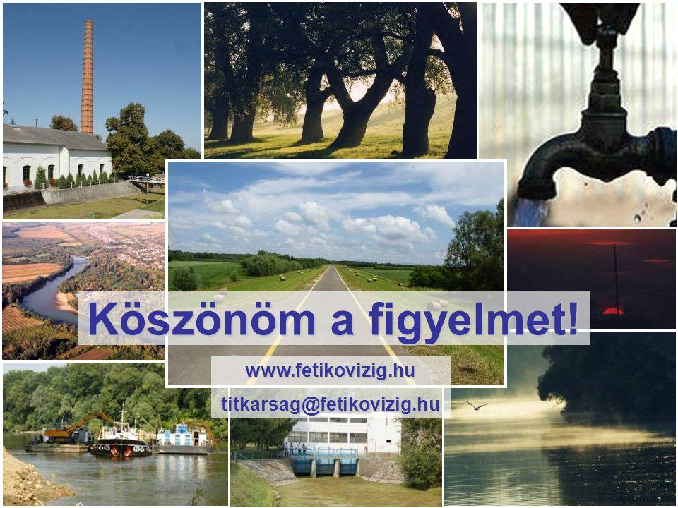 Köszönöm a figyelmet! www.fetikovizig.hutitkarsag@fetikovizig.hu