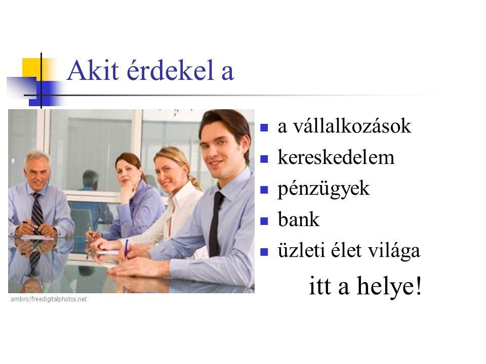 Akit érdekel a  a vállalkozások  kereskedelem  pénzügyek  bank  üzleti élet világa itt a helye! ambro/freedigitalphotos.net