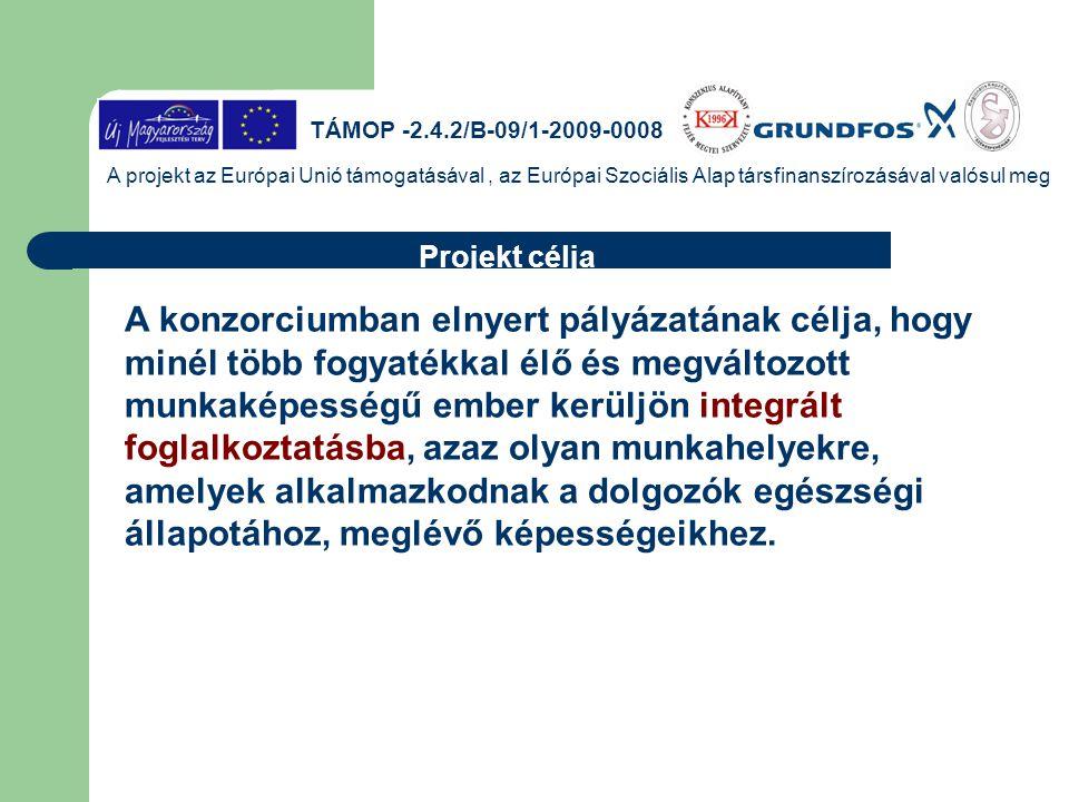 TÁMOP -2.4.2/B-09/1-2009-0008 A projekt az Európai Unió támogatásával, az Európai Szociális Alap társfinanszírozásával valósul meg A konzorciumban eln