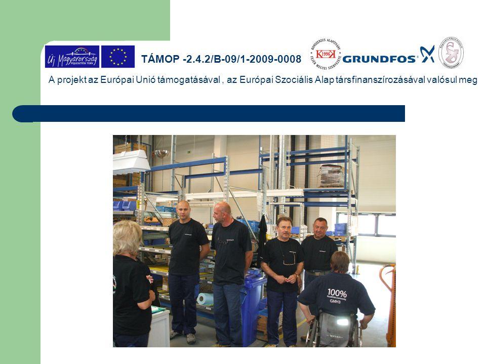 TÁMOP -2.4.2/B-09/1-2009-0008 A projekt az Európai Unió támogatásával, az Európai Szociális Alap társfinanszírozásával valósul meg