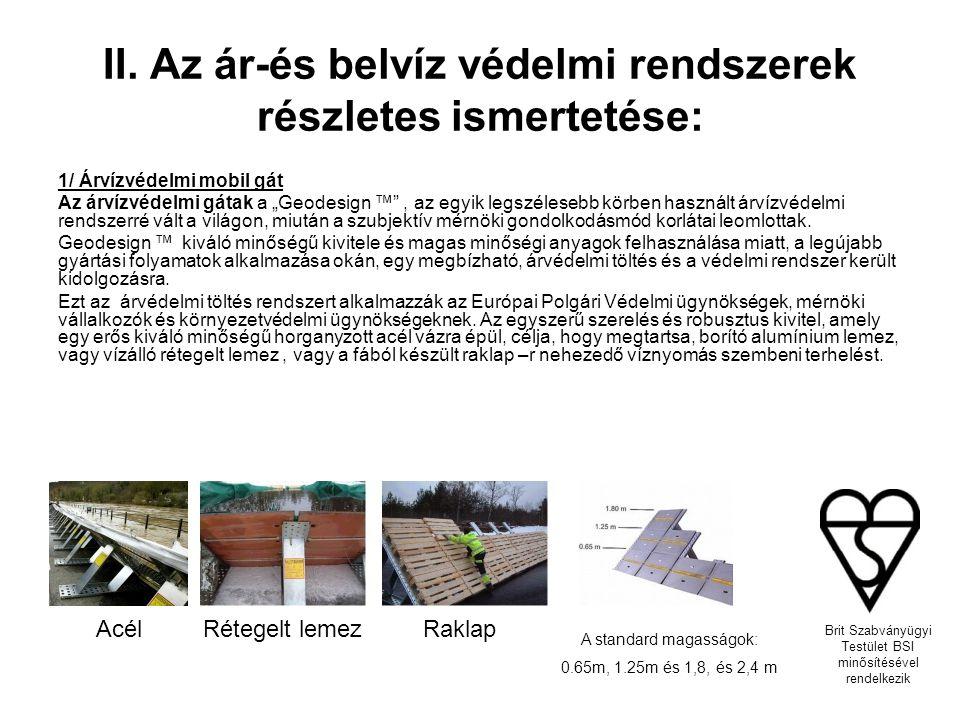 """""""AjtóŐr ár-és belvízvédelmi panel Ajtóőr rendszer jellemzői Modell neveStandardKözepesNagy magasság0.68m Árvízvédelmi magasság0.68m Növelhető szélességi méret735mm - 980mm955mm - 1185mm1175mm - 1405mm Áteresztés oldalt0% Tömeg (száraz) egységenként17kg22kg24kg Növelhető magasságIgen szélesség100mm Alkalmas felületekAszfalt, beton, útburkoló, Linoleum, fa áthidaló, csempe"""