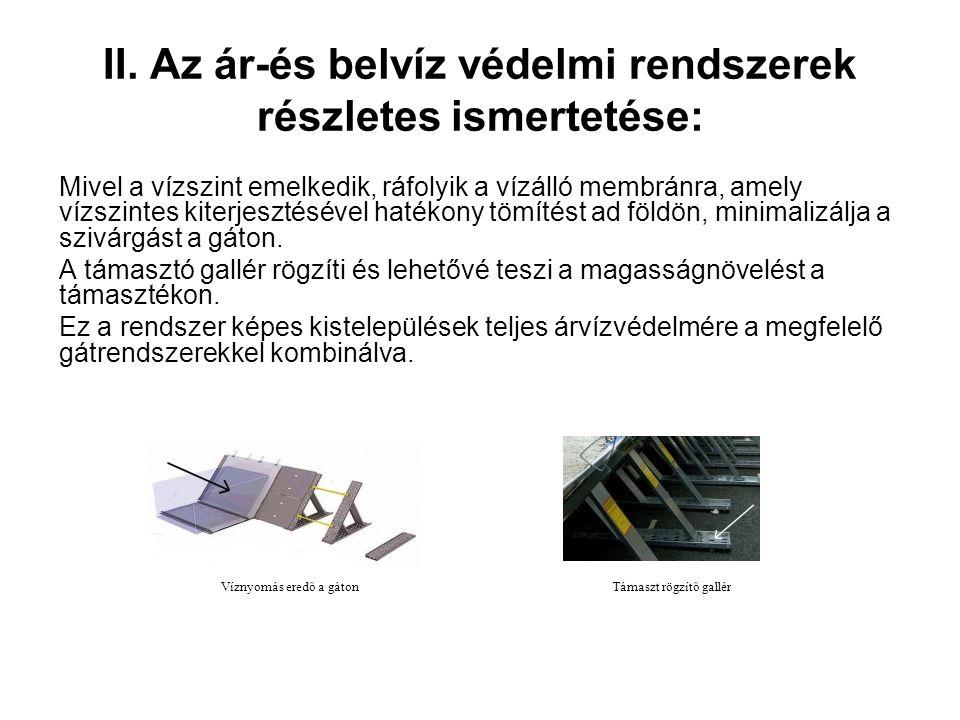 WIPP ™ rendszer jellemzői Elérhető szélesség0,30,6 m0.9m1.2m1.5m1.8m2,1 m2.4m Hatékony árvízvédelmi magasság 0,2 m0,4 m0,6 m0.9m1,1 m1,3 m1.5m1.8m Illesztési oldal25%-os MagasításNem Oszlop szélesség0.7m1,4 m2,1 m2,8 m3.8m4.6m5.4m6,1 m Alkalmas felületekAszfalt, beton, útburkoló, a fű, talaj a fű, talaj A grafikai Magyarázat
