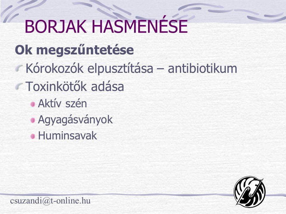 csuzandi@t-online.hu MÁJ VÉDELME Takarmány-kiegészítők Élesztő Propilén-glikol Védett zsírok Szerves kötésű kobalt