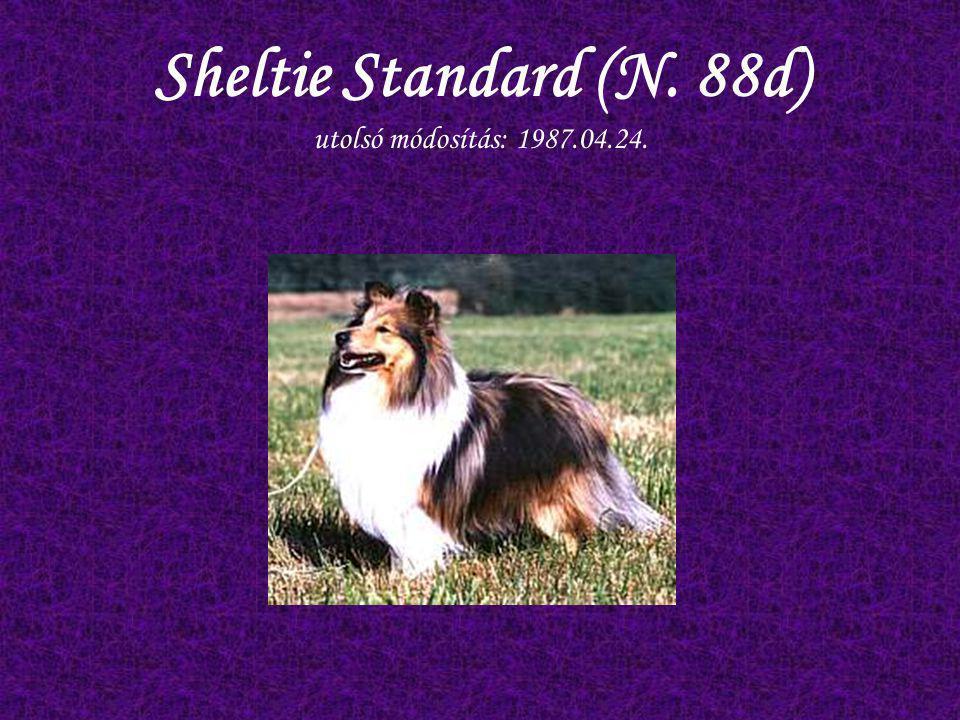 Sheltie Standard (N. 88d) utolsó módosítás: 1987.04.24.