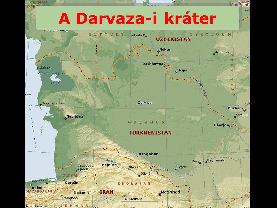 A türkmenisztáni Karakum sivatag lakatlan közepén, a világtól elzárva található Darvaza.