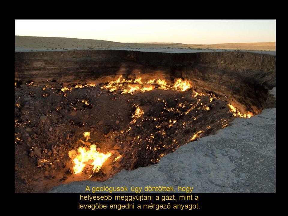 A geológusok úgy döntöttek, hogy helyesebb meggyújtani a gázt, mint a levegőbe engedni a mérgező anyagot.