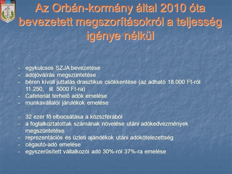 A Orbán Kormány tevékenysége alulnézetből 2010 – 2014. Csanádi József alelnök 2014. március 12.