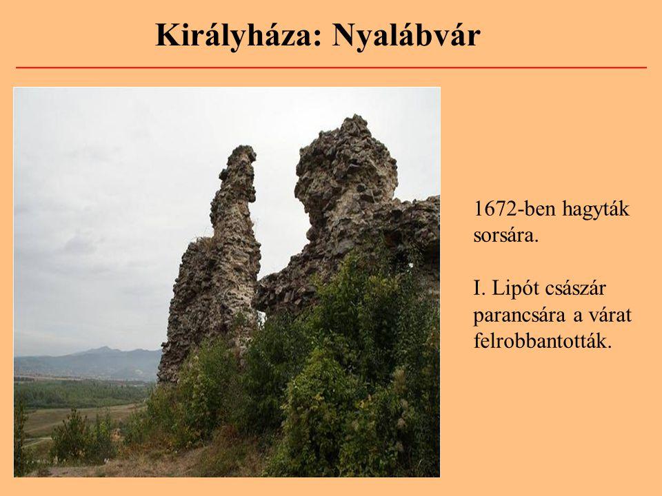 Királyháza: Nyalábvár 1672-ben hagyták sorsára. I. Lipót császár parancsára a várat felrobbantották.