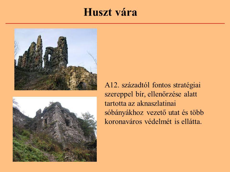 A12. századtól fontos stratégiai szereppel bír, ellenőrzése alatt tartotta az aknaszlatinai sóbányákhoz vezető utat és több koronaváros védelmét is el