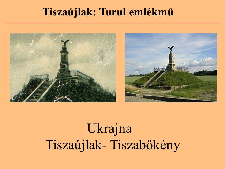 Tiszaújlak: Turul emlékmű Ukrajna Tiszaújlak- Tiszabökény