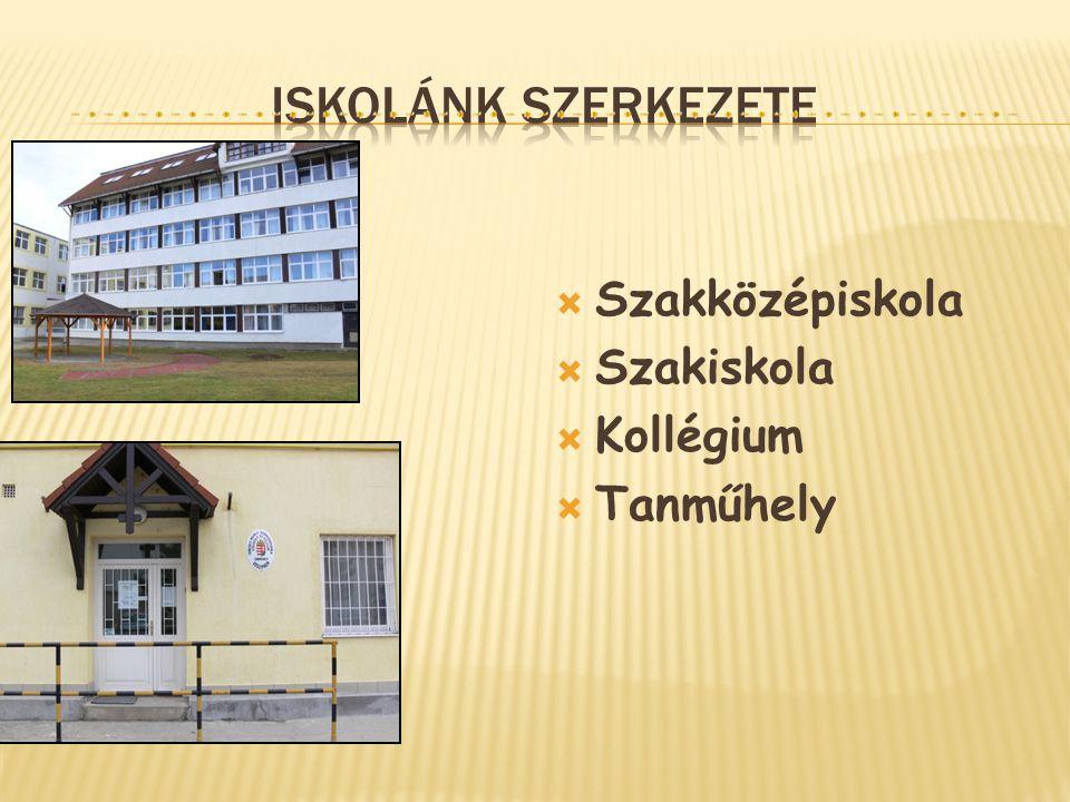  Szakközépiskola  Szakiskola  Kollégium  Tanműhely
