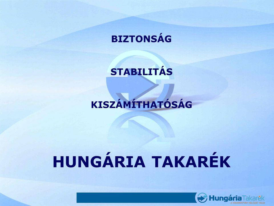 BIZTONSÁG STABILITÁS KISZÁMÍTHATÓSÁG HUNGÁRIA TAKARÉK