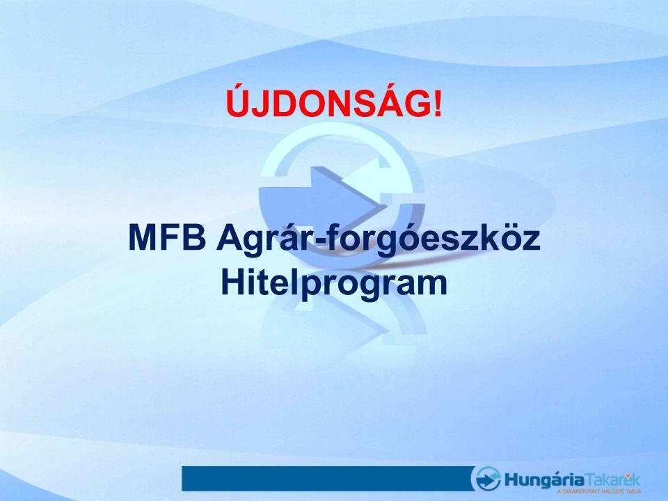 ÚJDONSÁG! MFB Agrár-forgóeszköz Hitelprogram