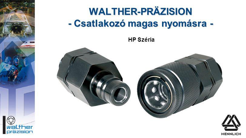 WALTHER-PRÄZISION - Csatlakozó magas nyomásra - Serie HP HP Széria