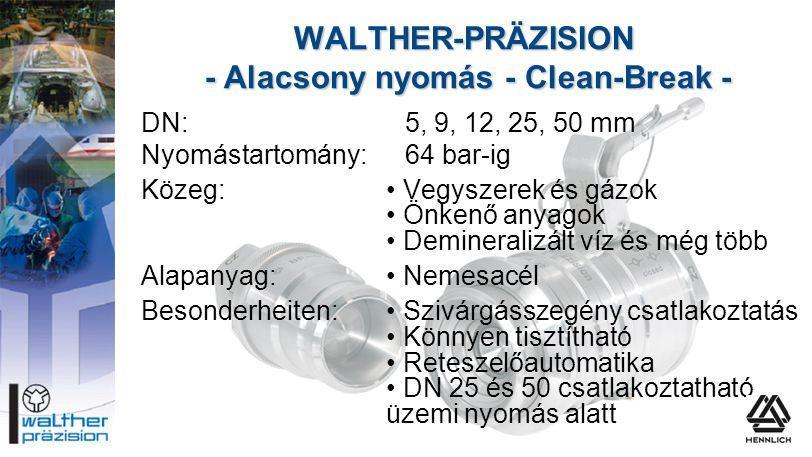 DN:5, 9, 12, 25, 50 mm Nyomástartomány:64 bar-ig Közeg:• Vegyszerek és gázok • Önkenő anyagok • Demineralizált víz és még több Alapanyag:• Nemesacél B