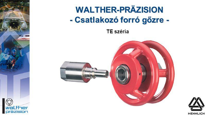WALTHER-PRÄZISION - Csatlakozó forró gőzre - TE széria