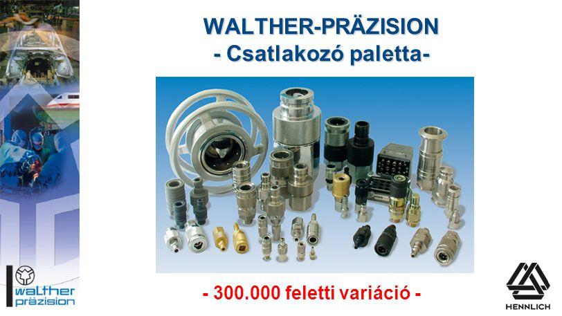 WALTHER-PRÄZISION - Csatlakozó paletta- - 300.000 feletti variáció -