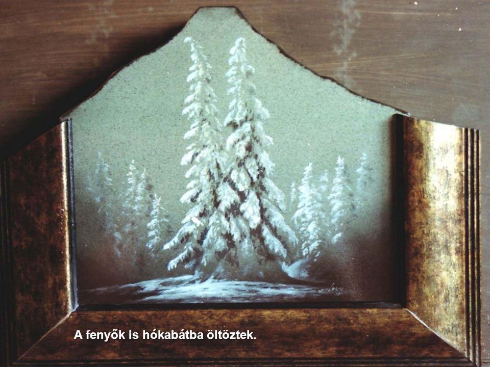 Ágak közt örökzöld tél-mozaik köszönt ránk.