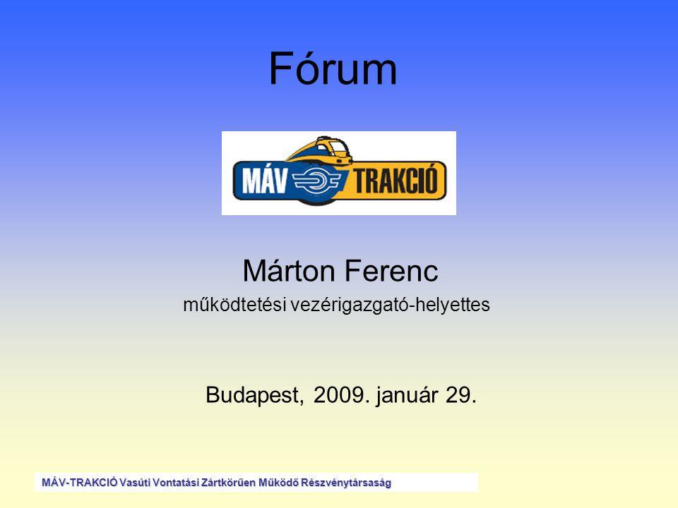 Partnereink Jelenleg 39 db szerződéses ügyfelünk van 36 db 3 db 3 db szolgáltatást nyújtunk szolgáltatást vásárolunk kölcsönös szolgáltatás •35 db hazai ügyfél •4 db nemzetközi partner (ÖBB Traktion GmbH, ZSSK, CFR Marfa, Slovenska Zeleznica Dopravna) •4 db nemzetközi szerződés kialakulóban (HZ, SFR Marfa, ZSS, Slovenska Zeleznice d.o.o.) MÁV-TRAKCIÓ Vasúti Vontatási Zártkörűen Működő Részvénytársaság
