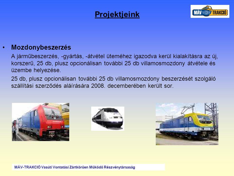 Projektjeink •MFB: Mozdonyfedélzeti Berendezés projekt befejezése A Prolan Zrt.