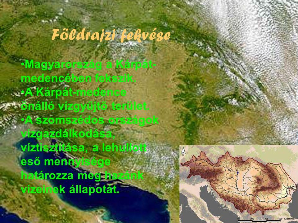 Földrajzi fekvése •Magyarország a Kárpát- medencében fekszik.