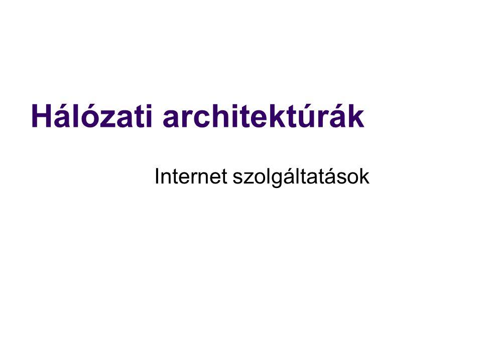 Hálózati architektúrák Internet szolgáltatások