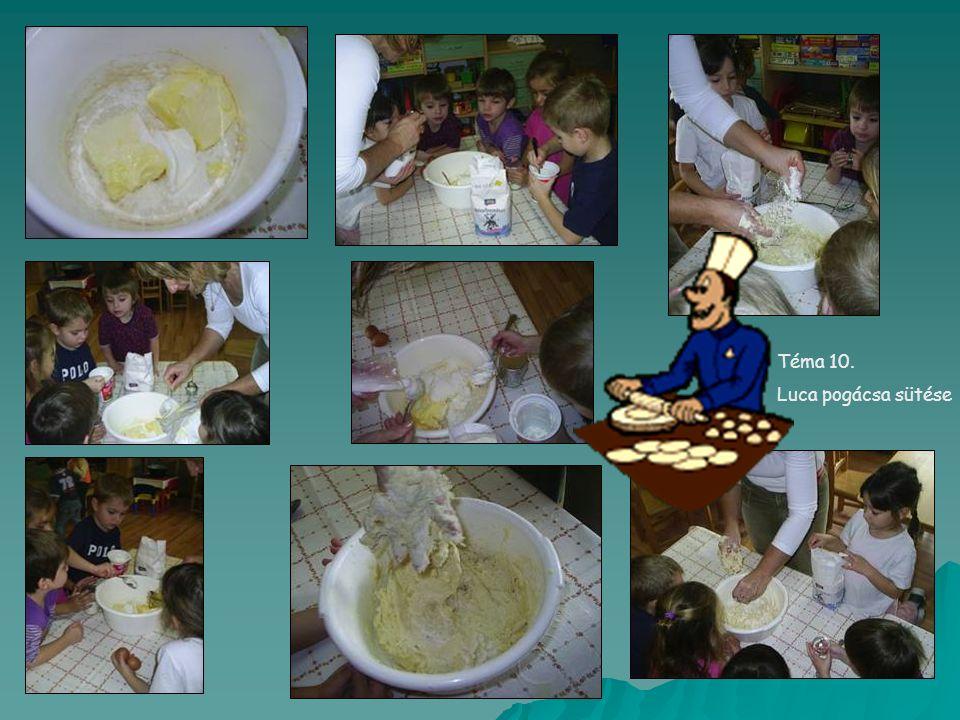 Téma 10. Luca pogácsa sütése