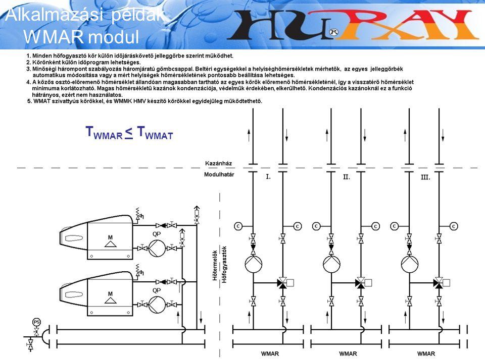 Alkalmazási példák WMAR modul T WMAR < T WMAT