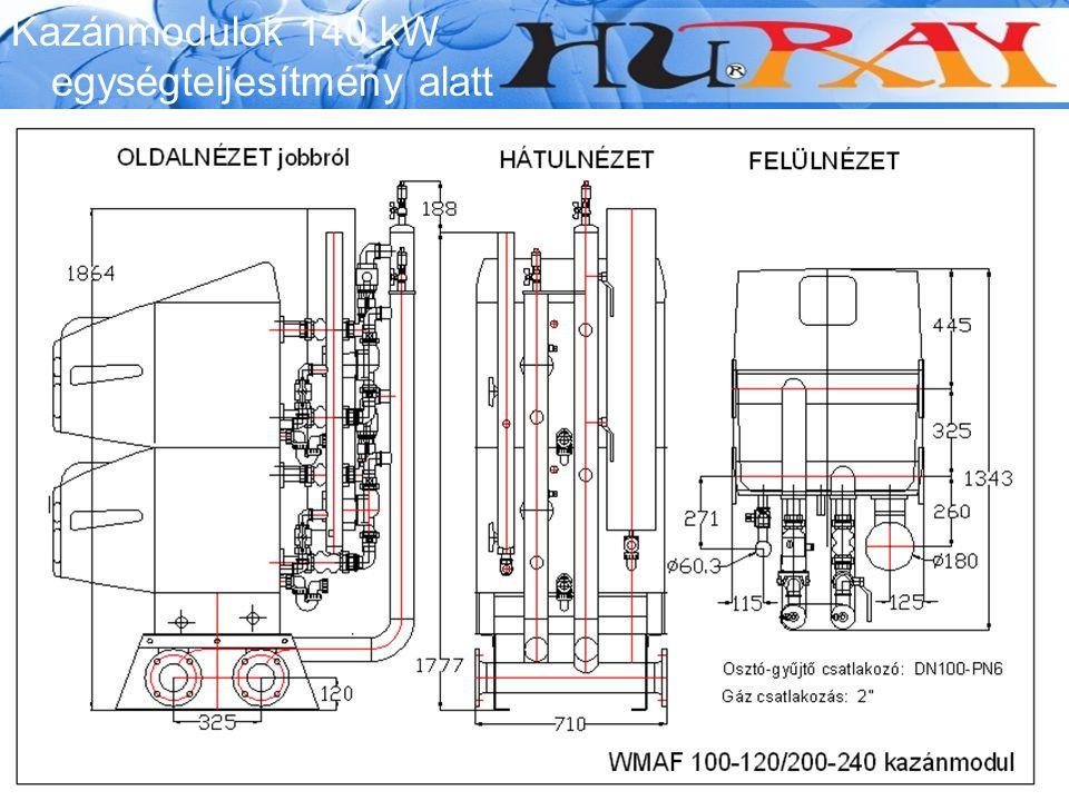 Wessex Modumax Kazánmodulok 140 kW egységteljesítmény alatt