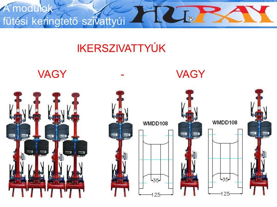 A modulok fűtési keringtető szivattyúi IKERSZIVATTYÚK VAGY-VAGY