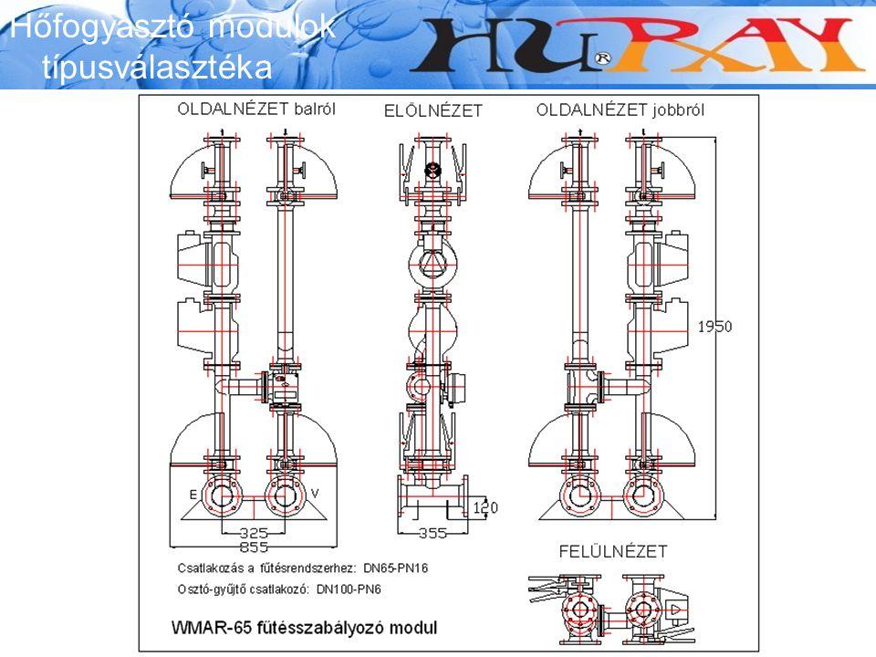 Wessex Modumax Hőfogyasztó modulok típusválasztéka